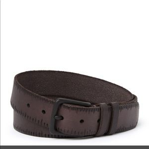 New all saints 35mm embossed leather belt size 40